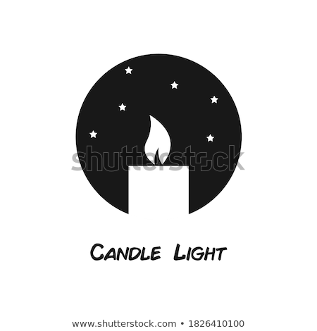 Illuminating Candle Silhouette Vector Illustration Stock photo © robuart