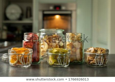 Eper sültkrumpli gyümölcs piros ízlés bogyók Stock fotó © popaukropa