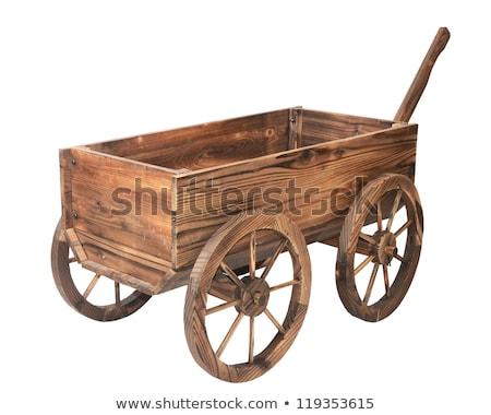 Oude vintage houten winkelwagen traditioneel Rusland Stockfoto © Valeriy