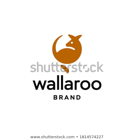 kangaroo logo Stock photo © meisuseno