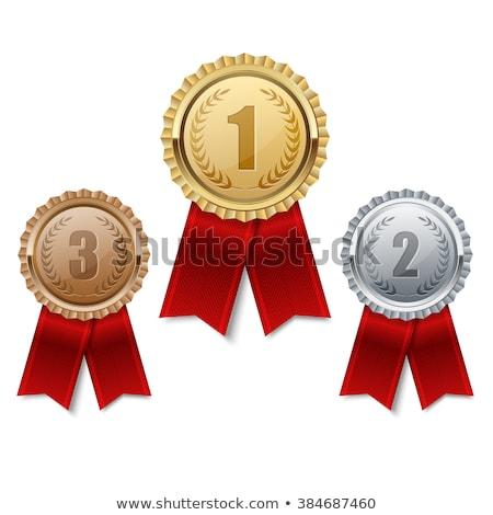 Certificado plantilla plata medalla ilustración fondo Foto stock © bluering