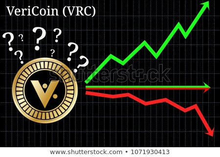 vericoin digital currency coin vector trading sign of vrc stock photo © tashatuvango