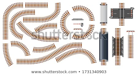 end of the railroad track stock photo © compuinfoto