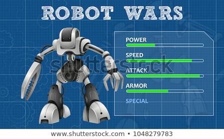 Robot terv különleges tulajdonságok tábla illusztráció Stock fotó © bluering
