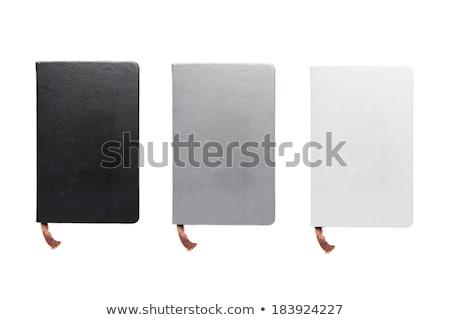 pelle · notebook · pen · bianco · ufficio · carta - foto d'archivio © daboost