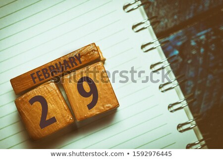 cubes 29th february stock photo © oakozhan