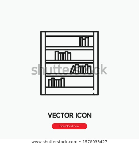 Office bookshelf icon in linear style Stock photo © studioworkstock