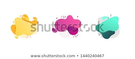 Colorato banner set vernice olio colore Foto d'archivio © adamson