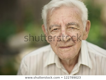 Studio portrait of sad senior man Stock photo © IS2