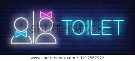 Male toilet sign on brick wall Stock photo © IS2
