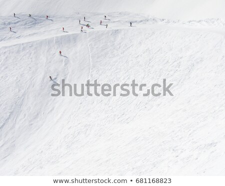 skiers going down steep mountain side utah usa stock photo © is2