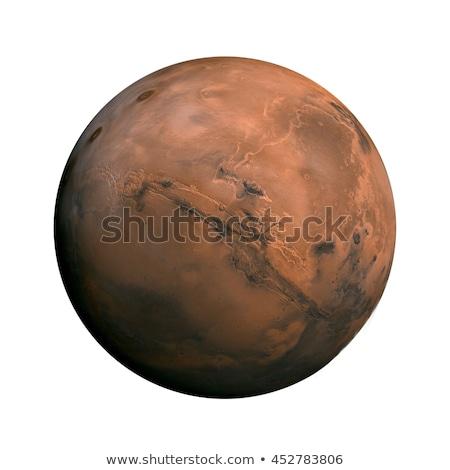 赤 · 惑星 · スペース · 目に見える · 岩 · 薄い - ストックフォト © lightsource