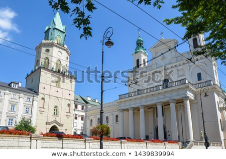 trynitarska tower and st john the baptist cathedral in lublin stock photo © benkrut