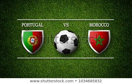 Futebol combinar Portugal vs Marrocos futebol Foto stock © Zerbor