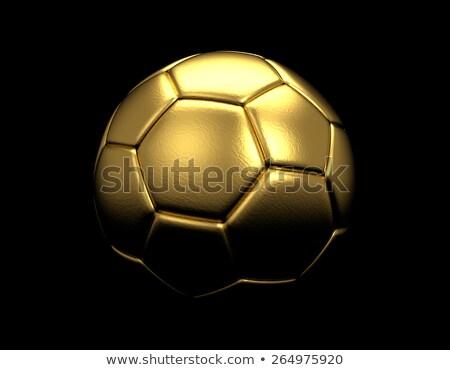 Gouden voetbal symbool overwinning kampioenschap voetbal Stockfoto © orensila