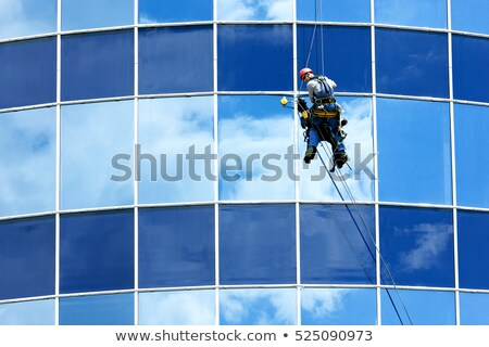 Highrise Window Washer Stock photo © blamb