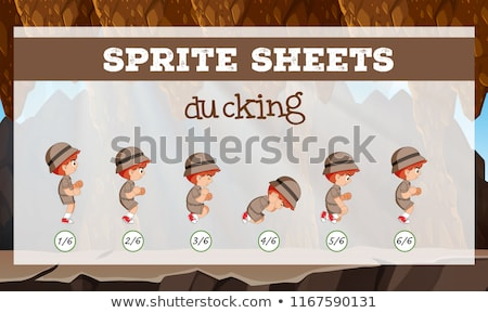 Sprite sheets ducking template Stock photo © bluering