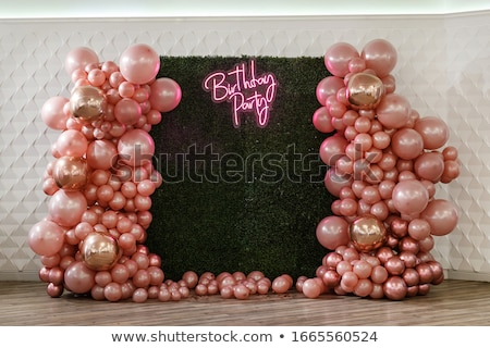 Foto stock: Arch Of Balloons