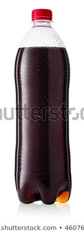 ボトル コーラ ソーダ ドリンク ガラス アイスキューブ ストックフォト © DenisMArt