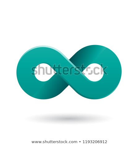 Persian Green Thick Infinity Symbol Vector Illustration Stock photo © cidepix