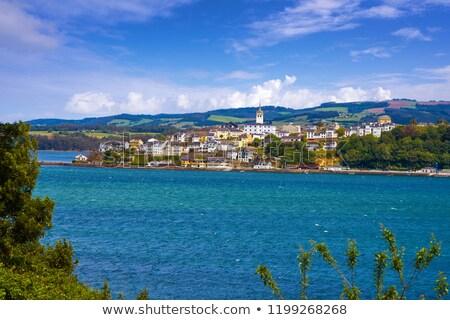 W. panoramę Hiszpania niebo budynku miasta Zdjęcia stock © lunamarina