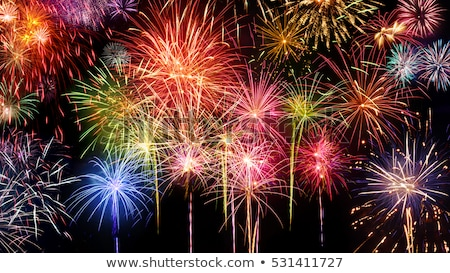 Festive Colourful Fireworks Display Stock photo © solarseven
