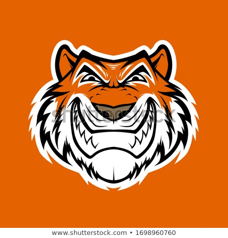 Evil Cartoon Tiger Stock photo © cthoman
