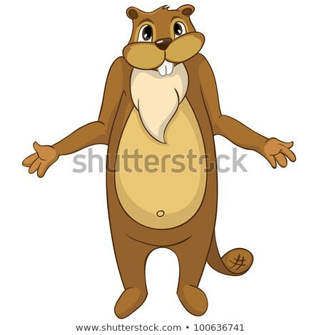 Sad Cartoon Beaver Stock photo © cthoman
