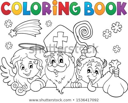 Libro da colorare santo argomento uomo vernice arte Foto d'archivio © clairev