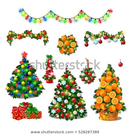 Сток-фото: эскиз · Cute · рождественская · елка · лук · Новый · год