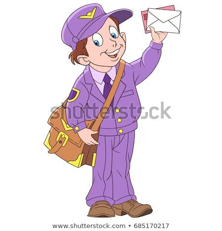 Cartoon Smiling Mail Carrier Boy Stock photo © cthoman