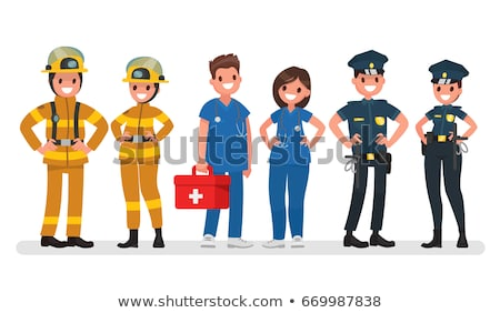 Police Officer Medical Worker Vector Illustration Stock photo © robuart