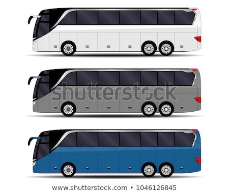 Realistic buses vector illustration Stock photo © YuriSchmidt