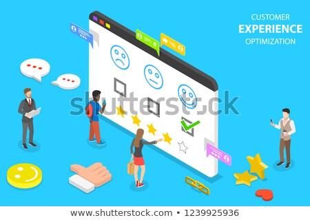 Isometric flat vector concept of customer experience optimization, crm Stock photo © TarikVision