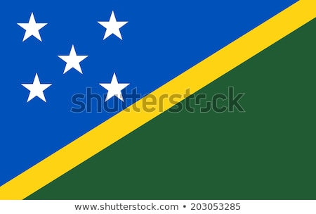 Solomon Islands flag isolated on white Stock photo © daboost