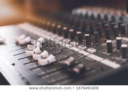 Audio keverő zene stúdió közelkép technológia Stock fotó © boggy