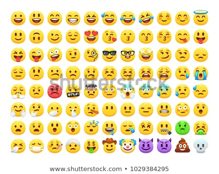 emoji chatting face laughing isolated icon vector stock photo © robuart