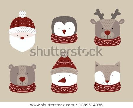 Bonitinho rena desenho animado vetor adesivo ícone Foto stock © robuart