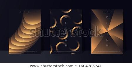 dorado · insignia · medalla · metal · sello - foto stock © robuart