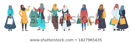 Shopping Shopaholic Ladies Isolated Set Vector Stock photo © robuart