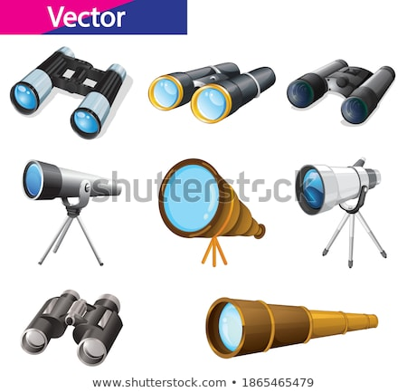 Different designs of telescopes Stock photo © colematt