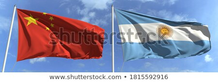 Deux drapeaux Chine Argentine isolé Photo stock © MikhailMishchenko