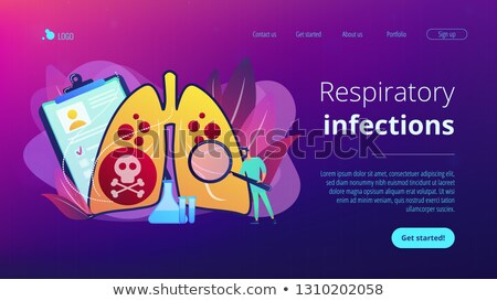 Lower respiratory infections concept landing page. Stock photo © RAStudio