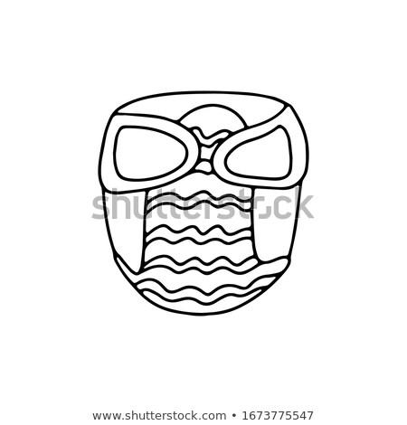 disposable diaper hand drawn outline doodle icon stock photo © rastudio