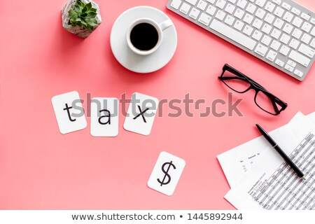 Text we are hiring coffee cup top view Stock photo © nasirkhan