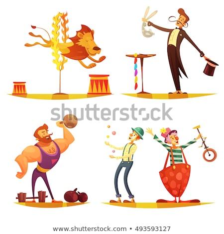 Bűvész vektor ikon illusztráció terv cirkusz Stock fotó © blaskorizov