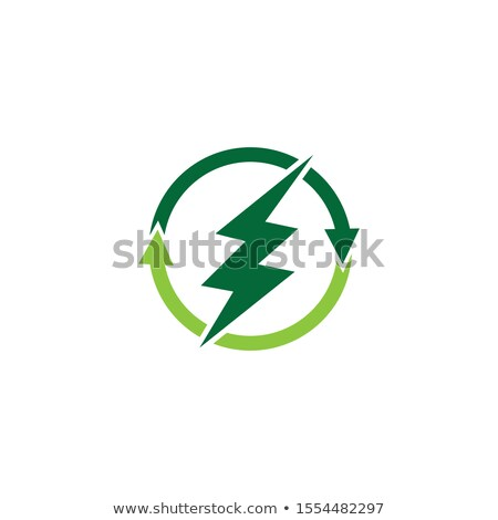 sun and leaf bio energy logo vector icon Stock photo © blaskorizov