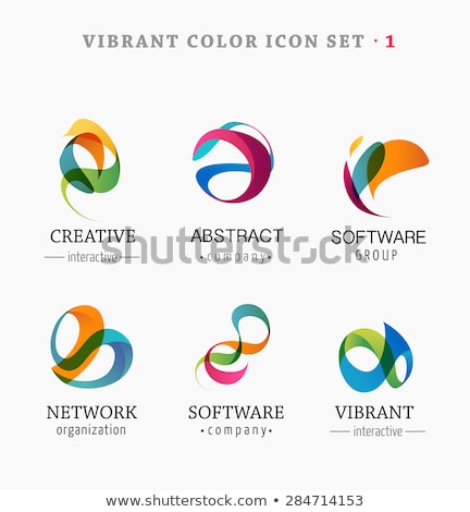 tech logo colorful abstract icon vector stock photo © blaskorizov
