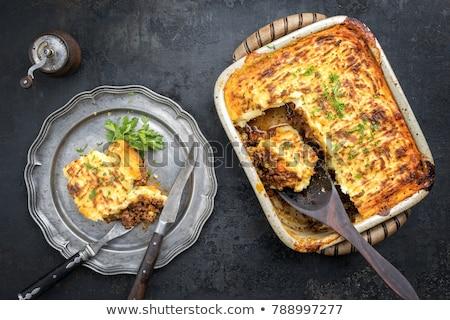 творог · пирог · Ягоды · украшенный · мята · продовольствие - Сток-фото © tycoon