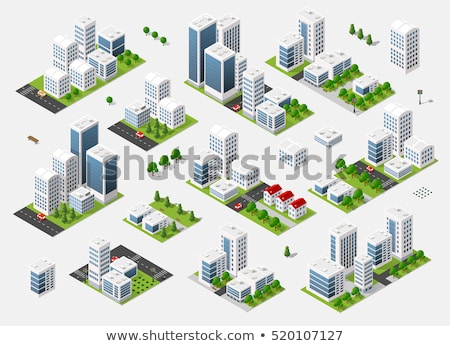 office color isometric concept icons stock photo © netkov1